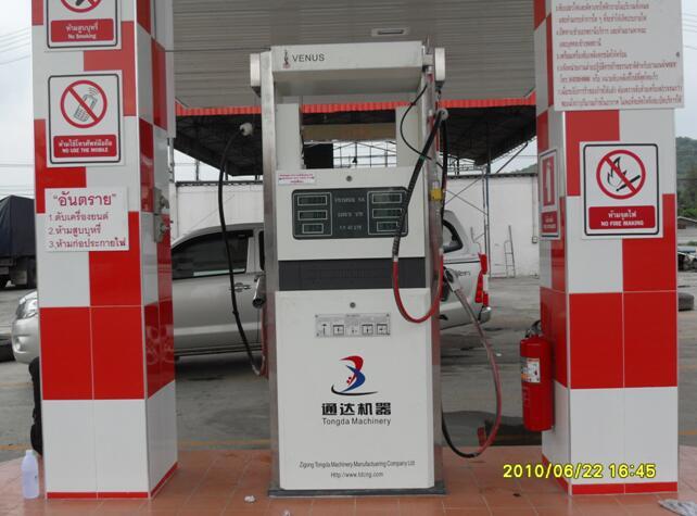 CNG加气机出口泰国(触摸屏三线双枪加气机)2