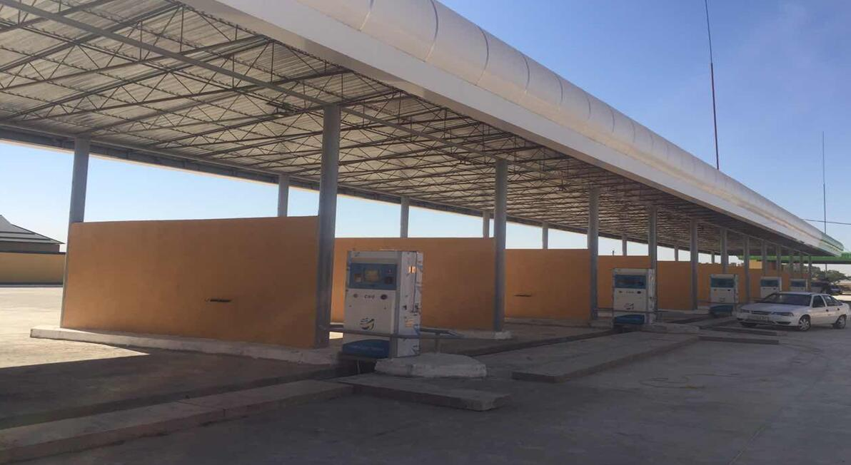 CNG加气机出口乌兹别克斯坦,卡尔西站(三线双枪加气机)