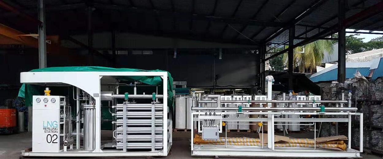 LNG杜瓦瓶充装设备出口新加坡,进入东南亚市场